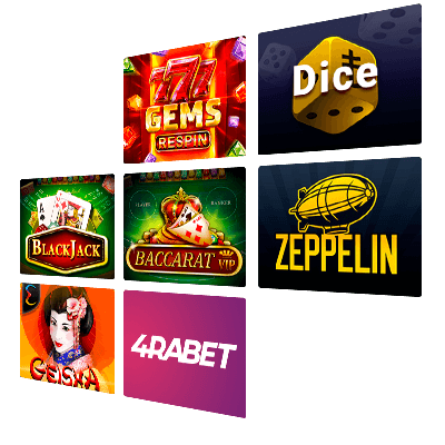 4raBet Casino Games - the List of the Most Popular Games
