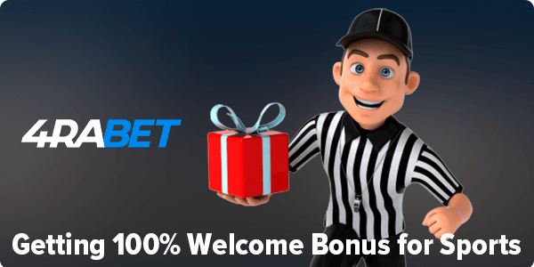 Welcome bonus for sports at 4rabet